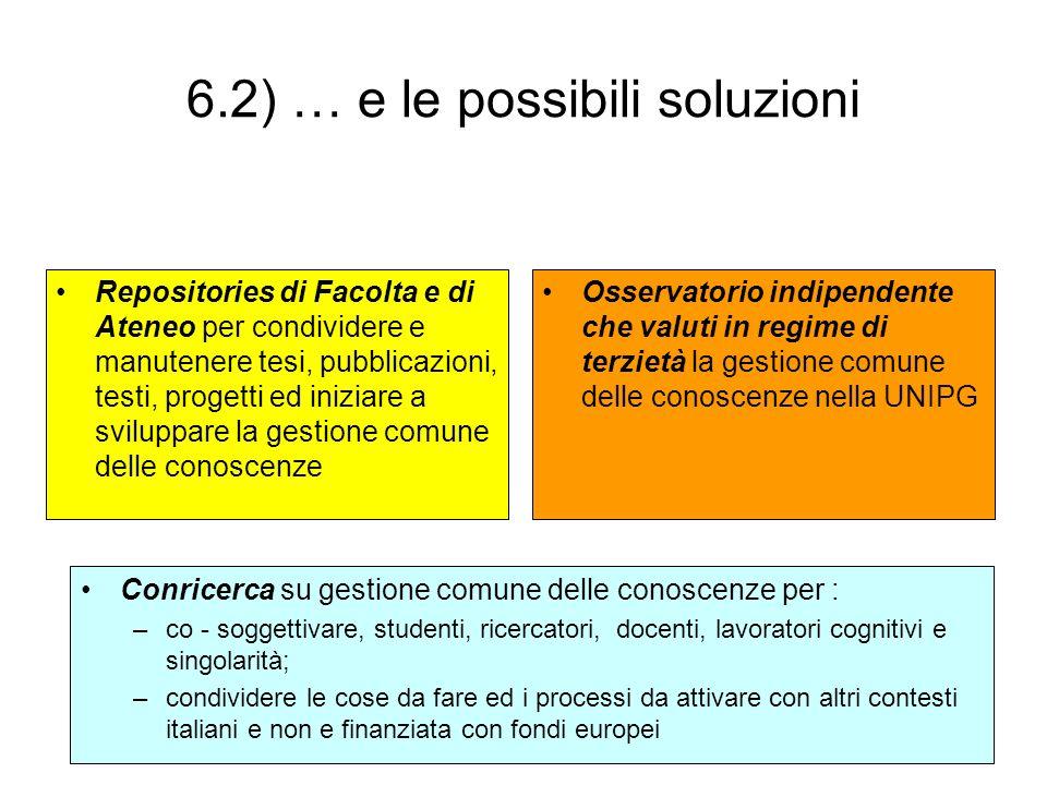 6.2) … e le possibili soluzioni
