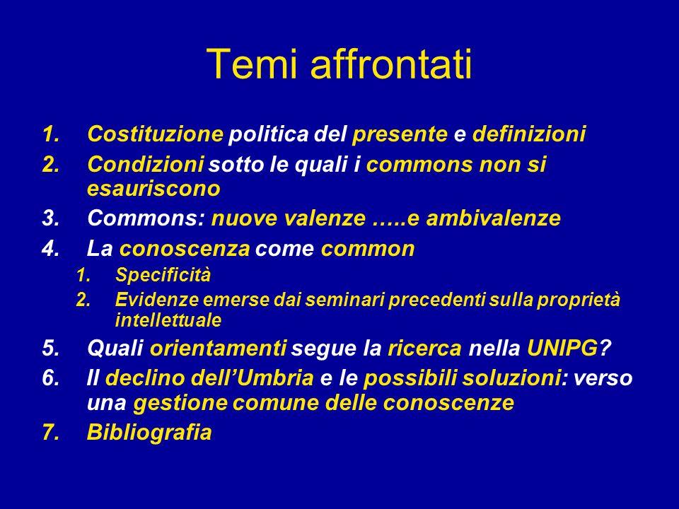Temi affrontati Costituzione politica del presente e definizioni