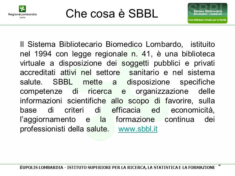 Che cosa è SBBL