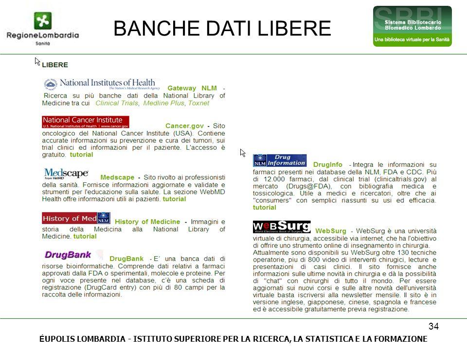 BANCHE DATI LIBERE 34.