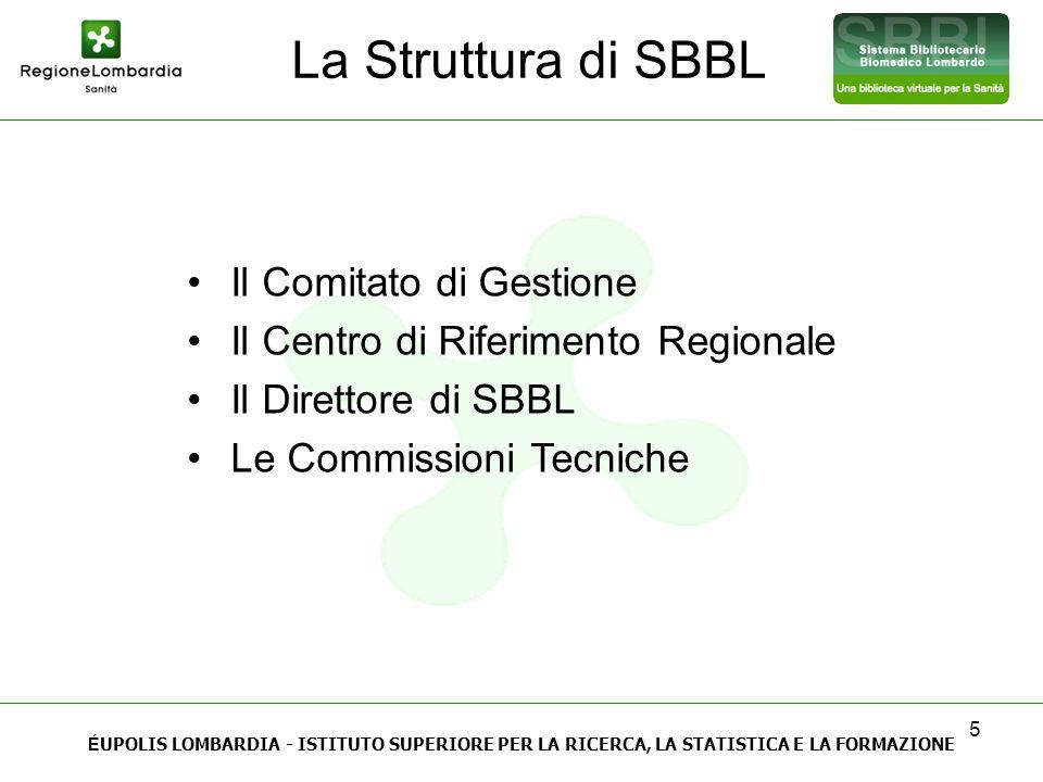 La Struttura di SBBL Il Comitato di Gestione