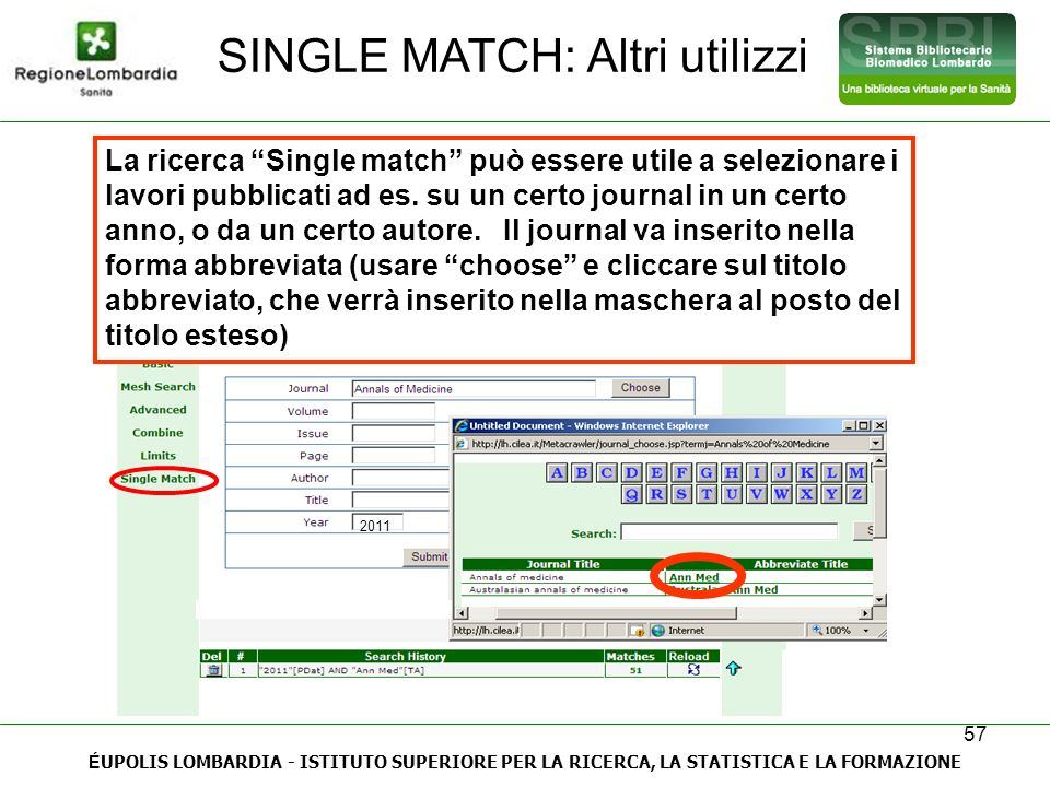 SINGLE MATCH: Altri utilizzi