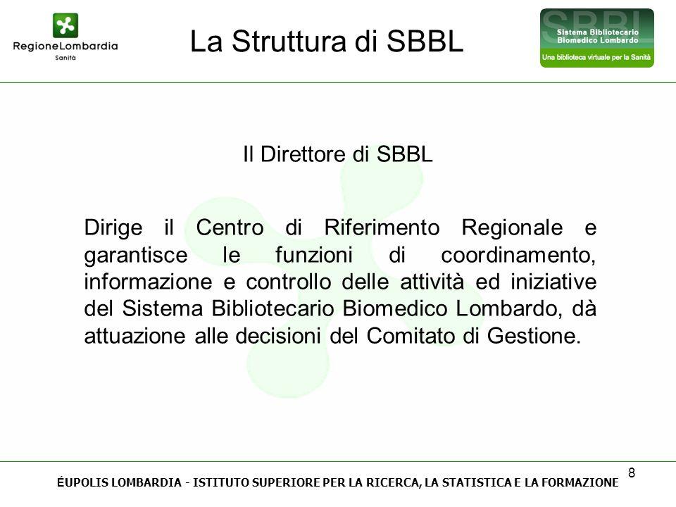 La Struttura di SBBL Il Direttore di SBBL