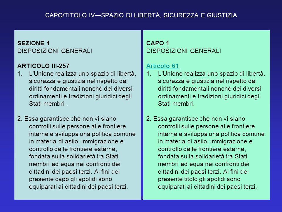 CAPO/TITOLO IV—SPAZIO DI LIBERTÀ, SICUREZZA E GIUSTIZIA