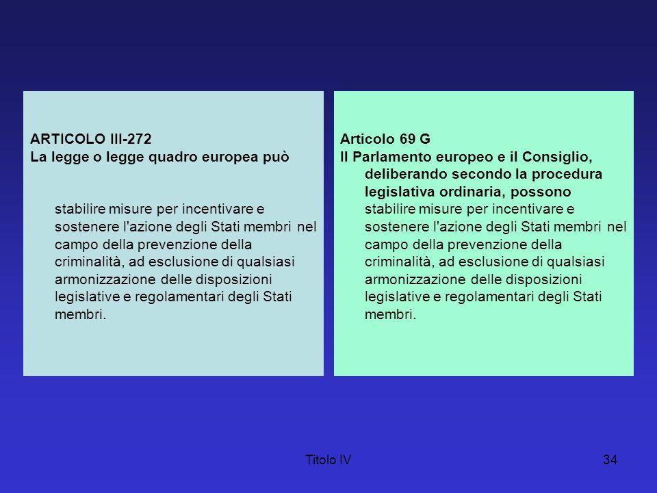 La legge o legge quadro europea può