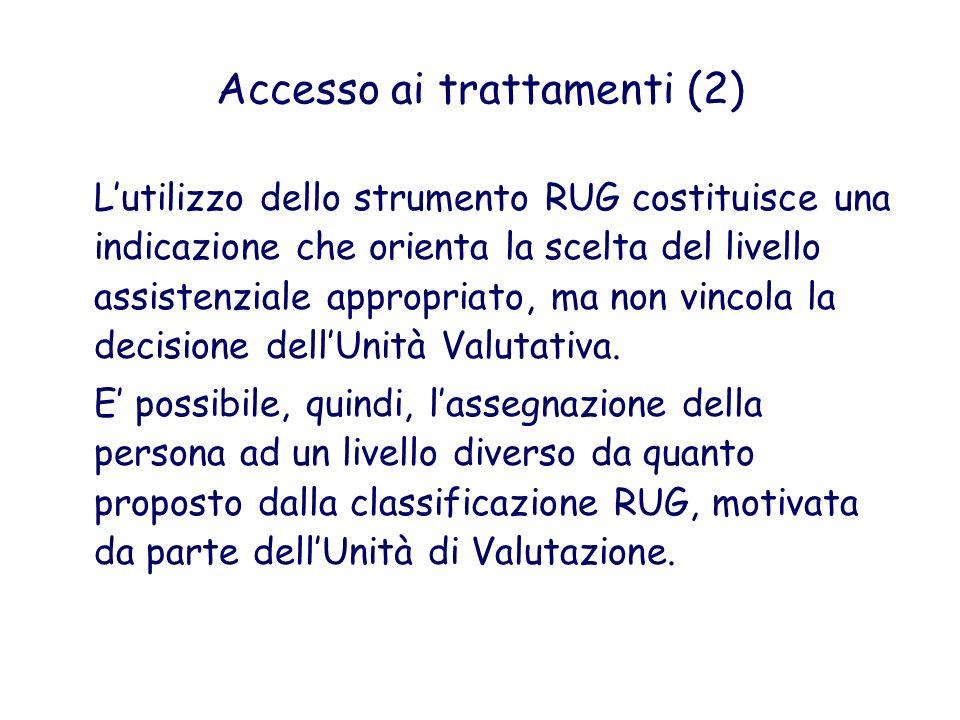 Accesso ai trattamenti (2)