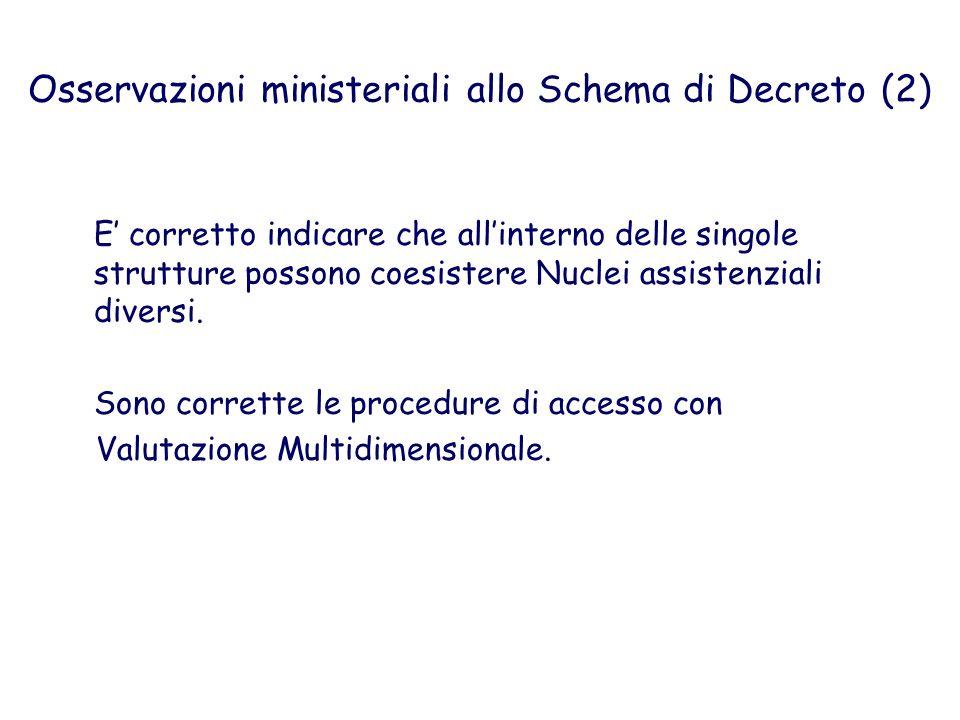 Osservazioni ministeriali allo Schema di Decreto (2)