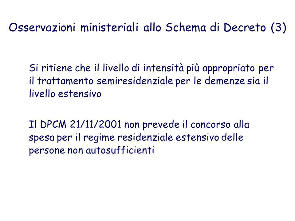 Osservazioni ministeriali allo Schema di Decreto (3)