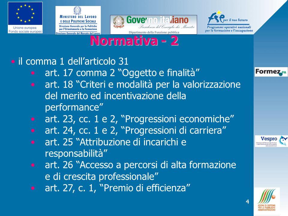 Normativa - 2 il comma 1 dell'articolo 31