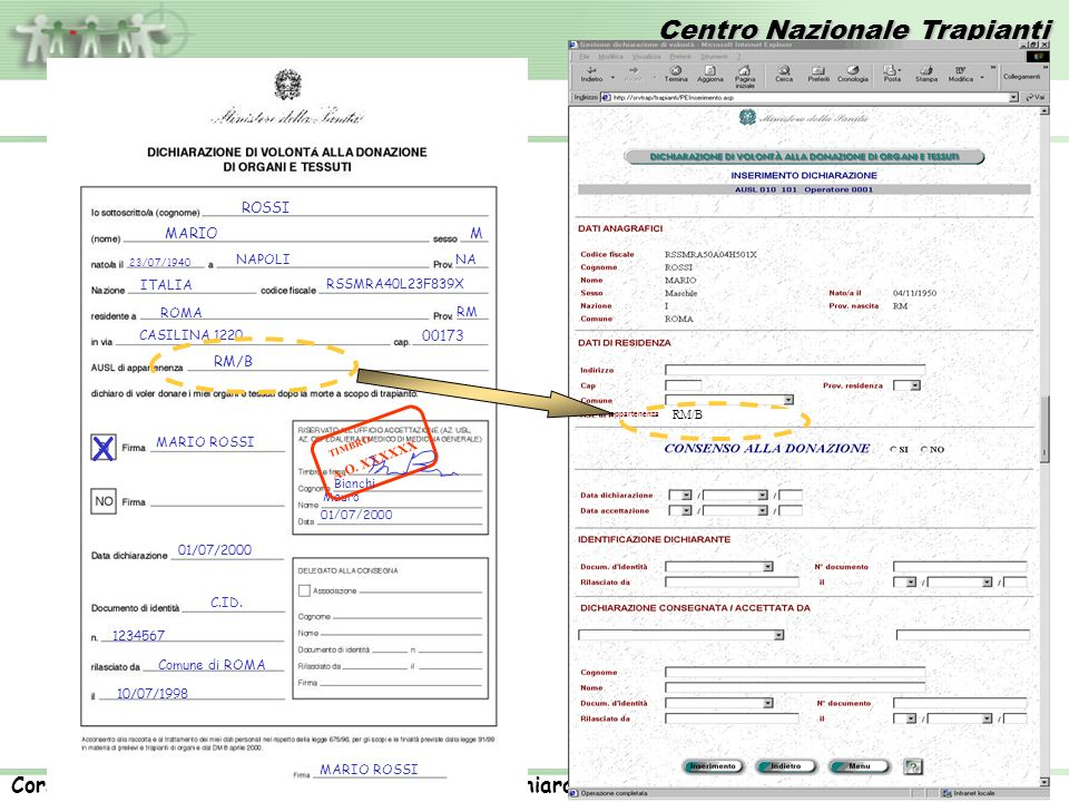 X RM/B ROSSI MARIO M 00173 NAPOLI NA ITALIA RSSMRA40L23F839X ROMA RM