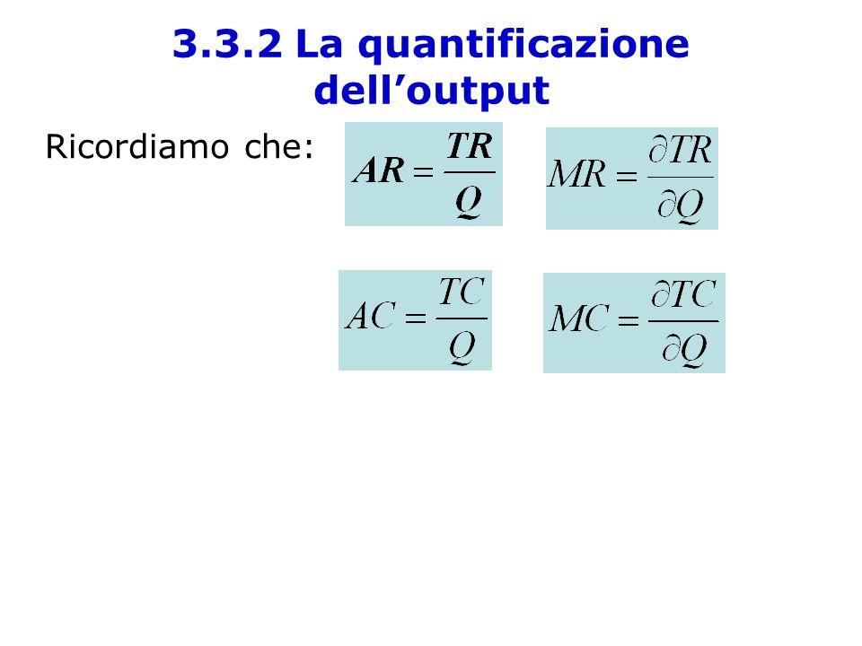 3.3.2 La quantificazione dell'output