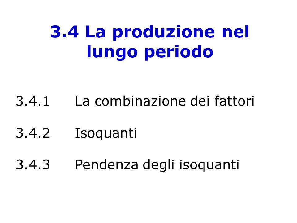 3.4 La produzione nel lungo periodo