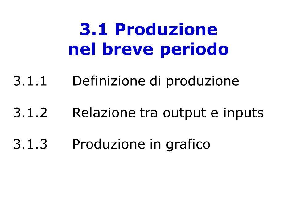3.1 Produzione nel breve periodo