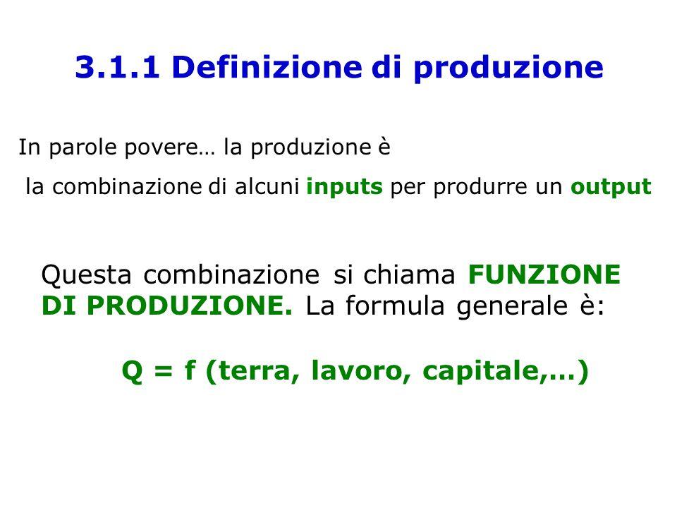 3.1.1 Definizione di produzione