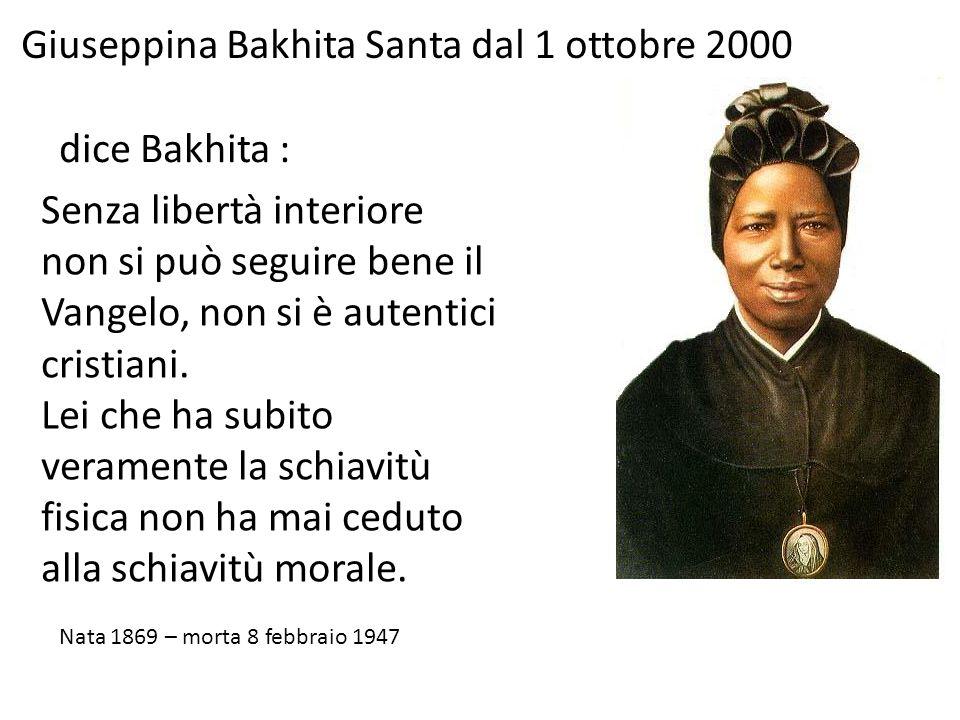 Giuseppina Bakhita Santa dal 1 ottobre 2000