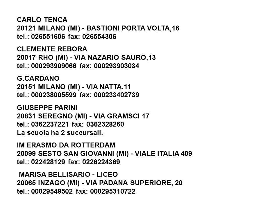 Elenco delle scuole statali di milano e provincia ppt - Scuola carlo porta milano ...