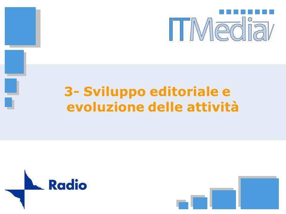 3- Sviluppo editoriale e evoluzione delle attività