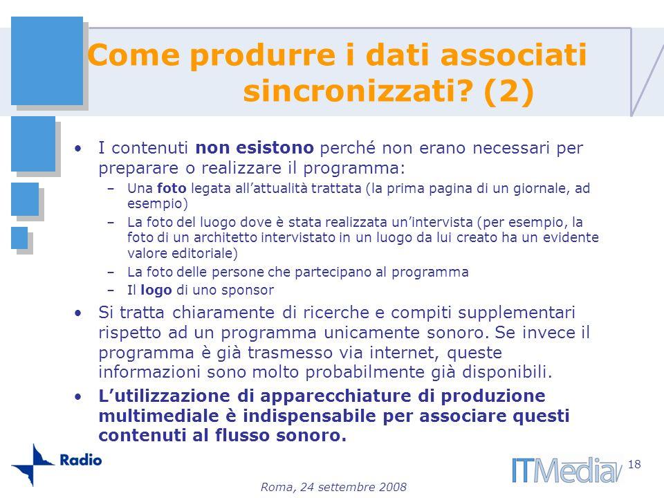Come produrre i dati associati sincronizzati (2)
