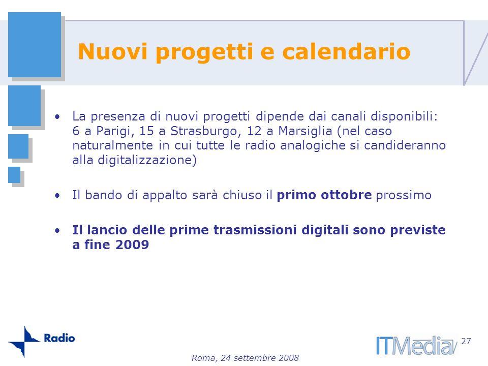 Nuovi progetti e calendario