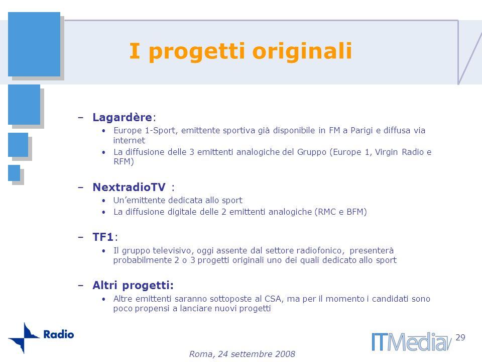 I progetti originali Lagardère: NextradioTV : TF1: Altri progetti: