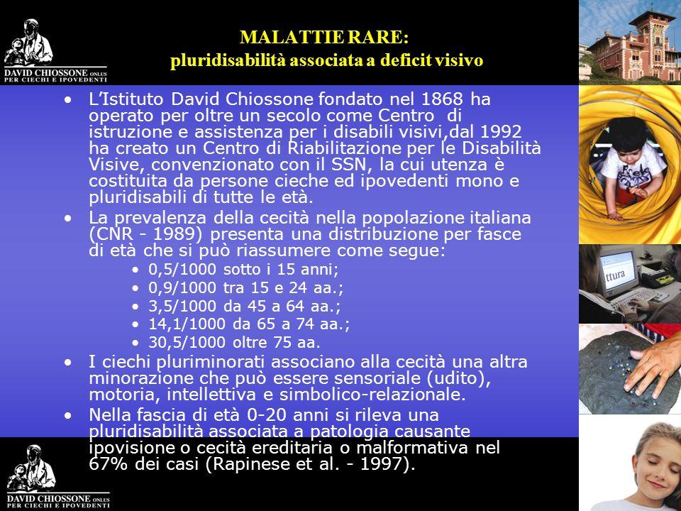 MALATTIE RARE: pluridisabilità associata a deficit visivo