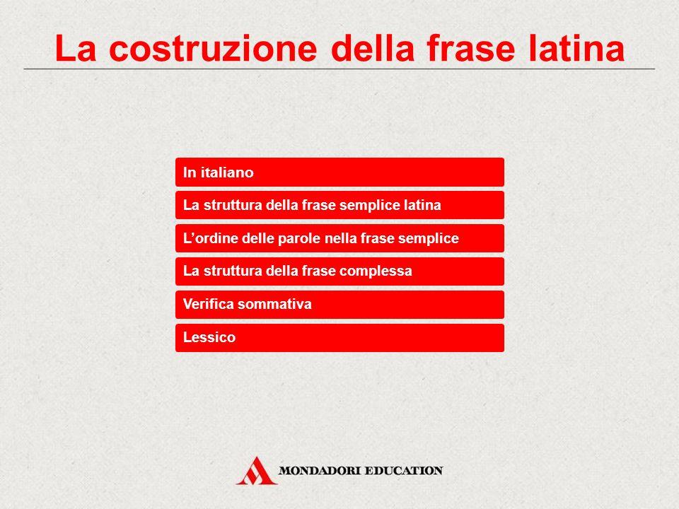 La costruzione della frase latina
