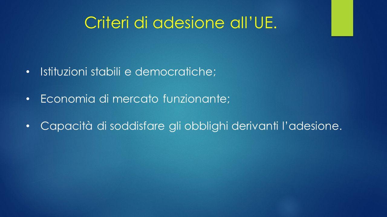 Criteri di adesione all'UE.