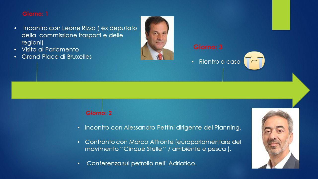Giorno: 1 Incontro con Leone Rizzo ( ex deputato della commissione trasporti e delle regioni) Visita al Parlamento.