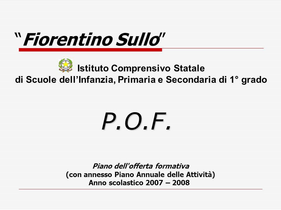P.O.F. Fiorentino Sullo Istituto Comprensivo Statale