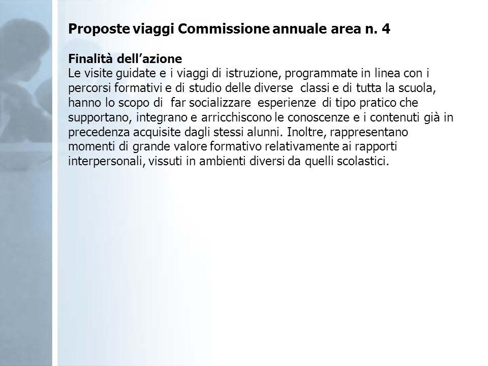 Proposte viaggi Commissione annuale area n. 4