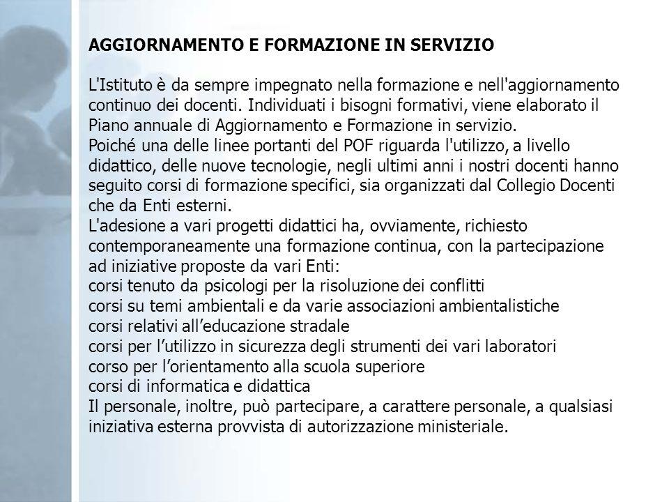 AGGIORNAMENTO E FORMAZIONE IN SERVIZIO