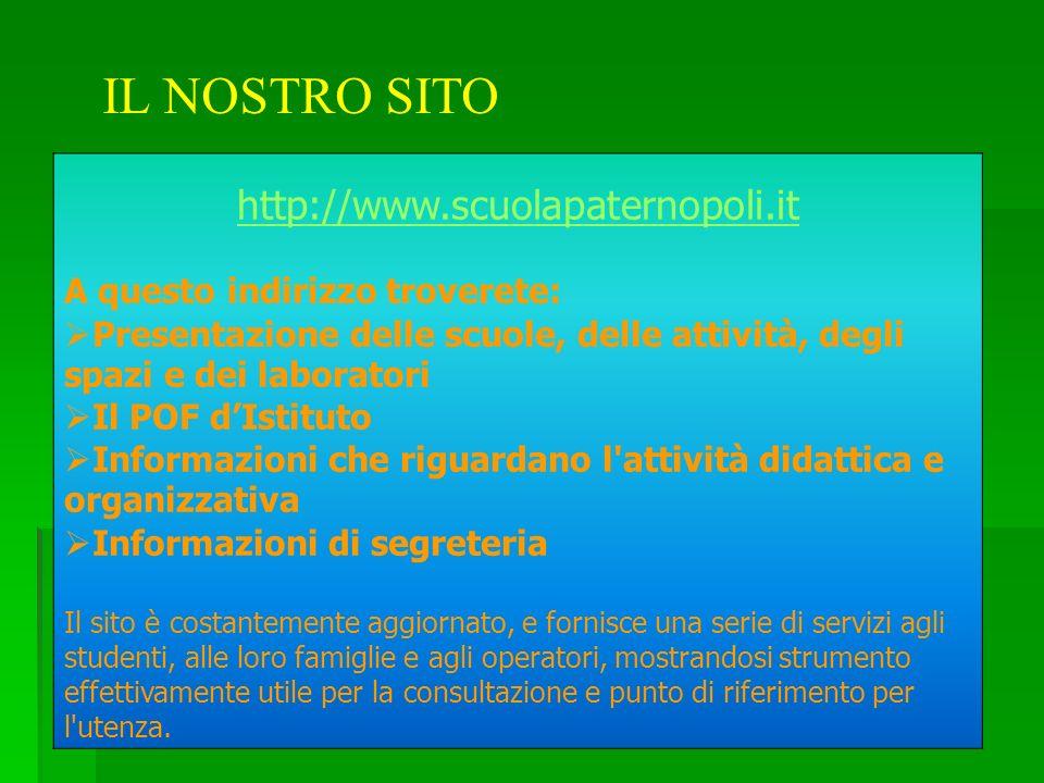 IL NOSTRO SITO http://www.scuolapaternopoli.it