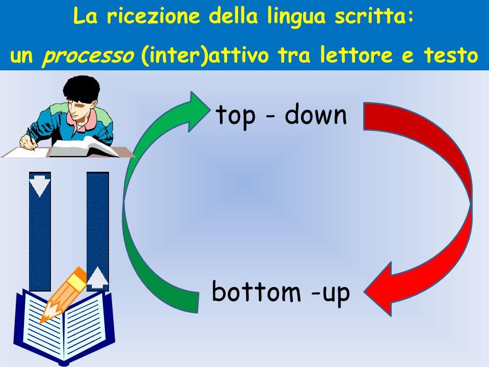 top - down bottom -up La ricezione della lingua scritta: