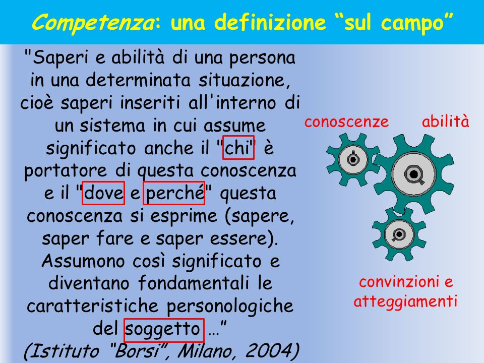 Competenza: una definizione sul campo
