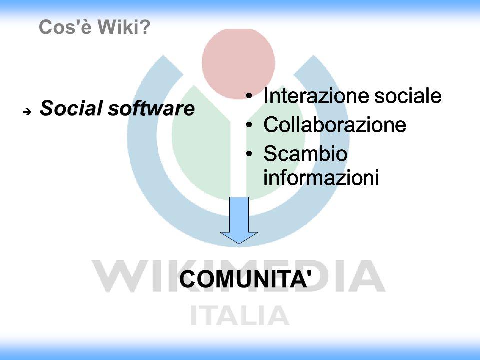 COMUNITA Interazione sociale Collaborazione Scambio informazioni