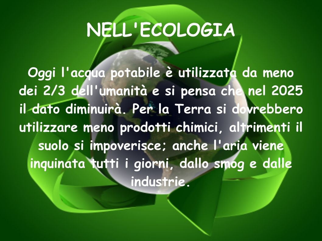 NELL ECOLOGIA