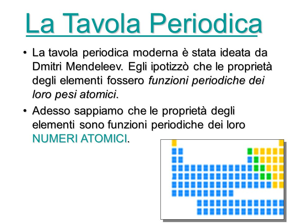 La Tavola Periodica