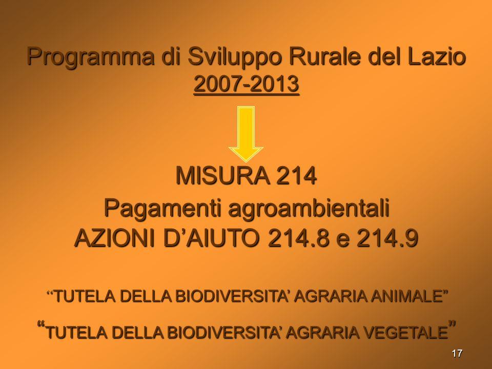 Programma di Sviluppo Rurale del Lazio