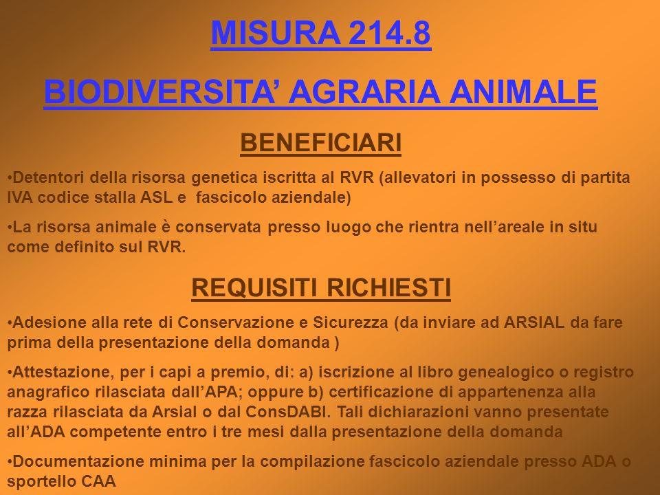 BIODIVERSITA' AGRARIA ANIMALE