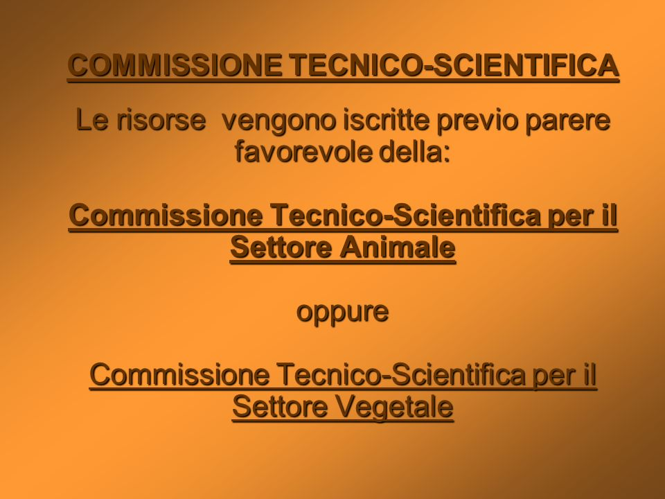 COMMISSIONE TECNICO-SCIENTIFICA