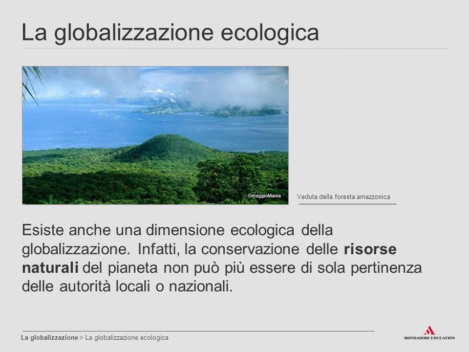 La globalizzazione ecologica