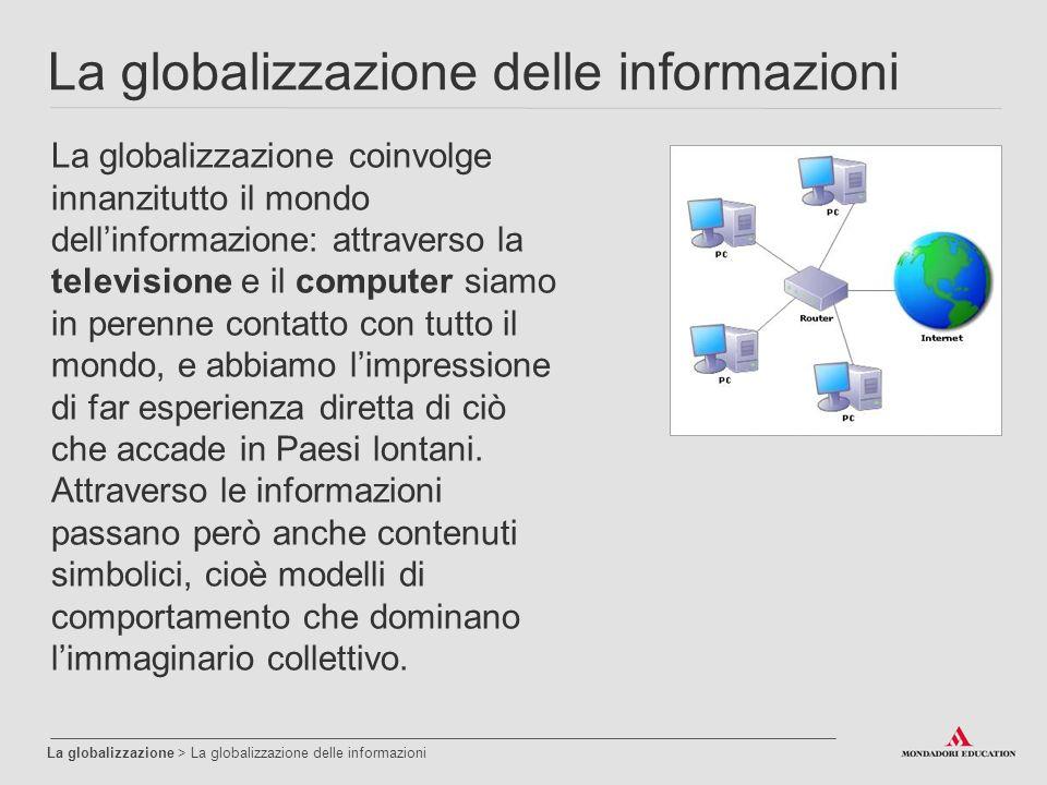 La globalizzazione delle informazioni