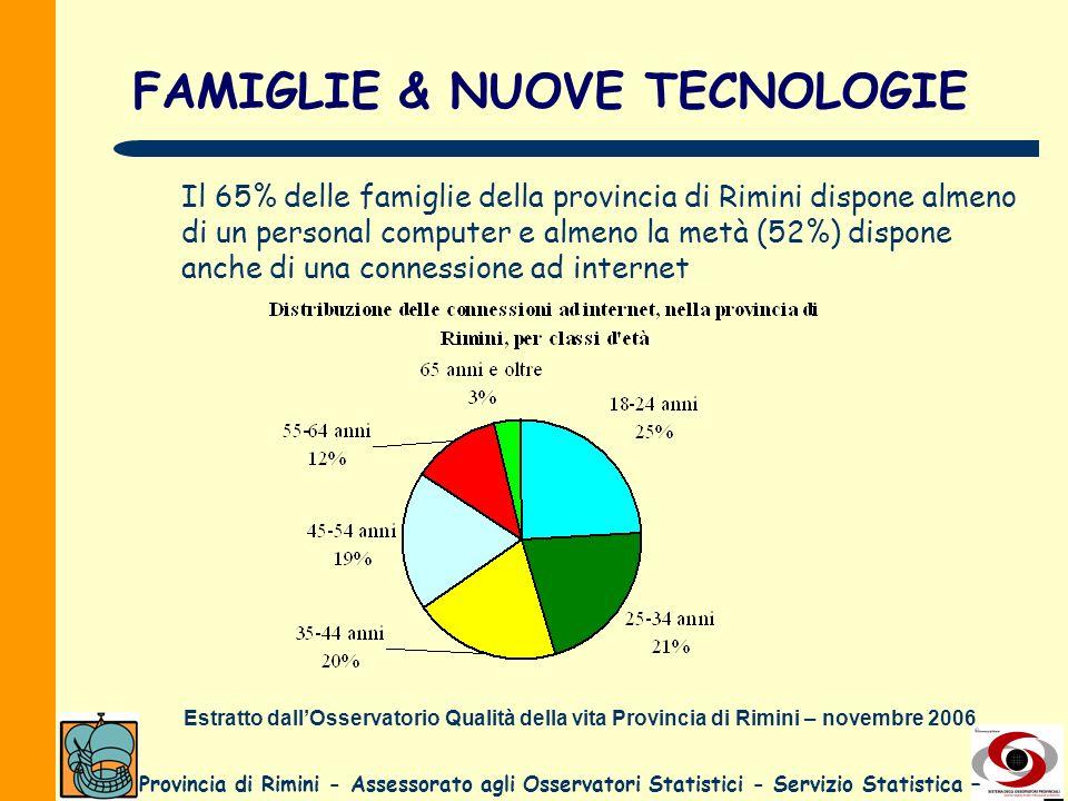 FAMIGLIE & NUOVE TECNOLOGIE
