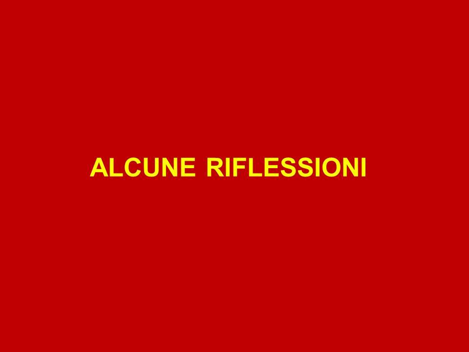 ALCUNE RIFLESSIONI