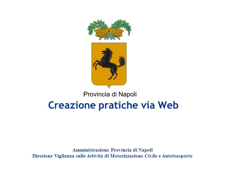 Creazione pratiche via Web
