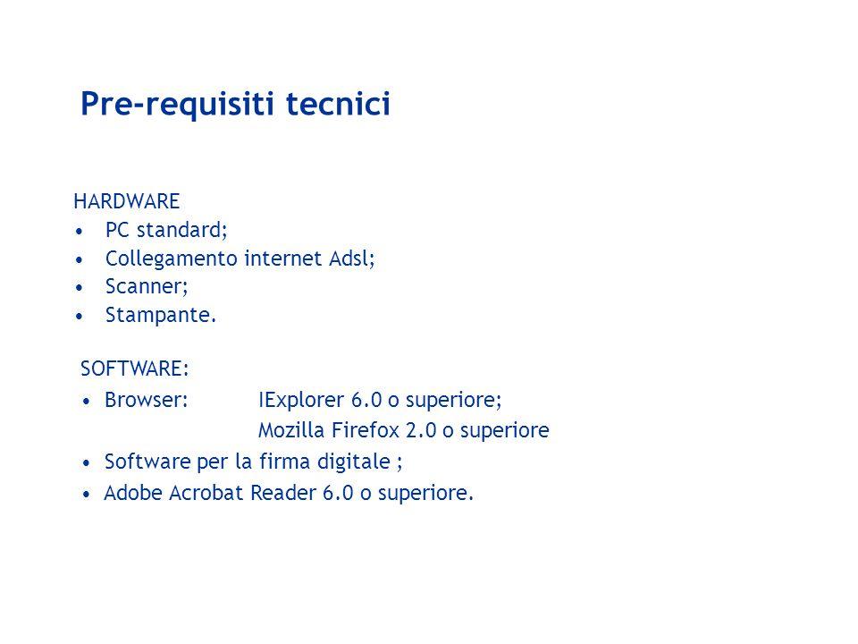 Pre-requisiti tecnici