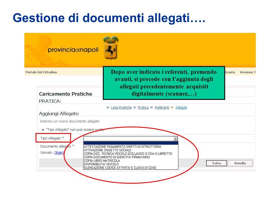 Gestione di documenti allegati….