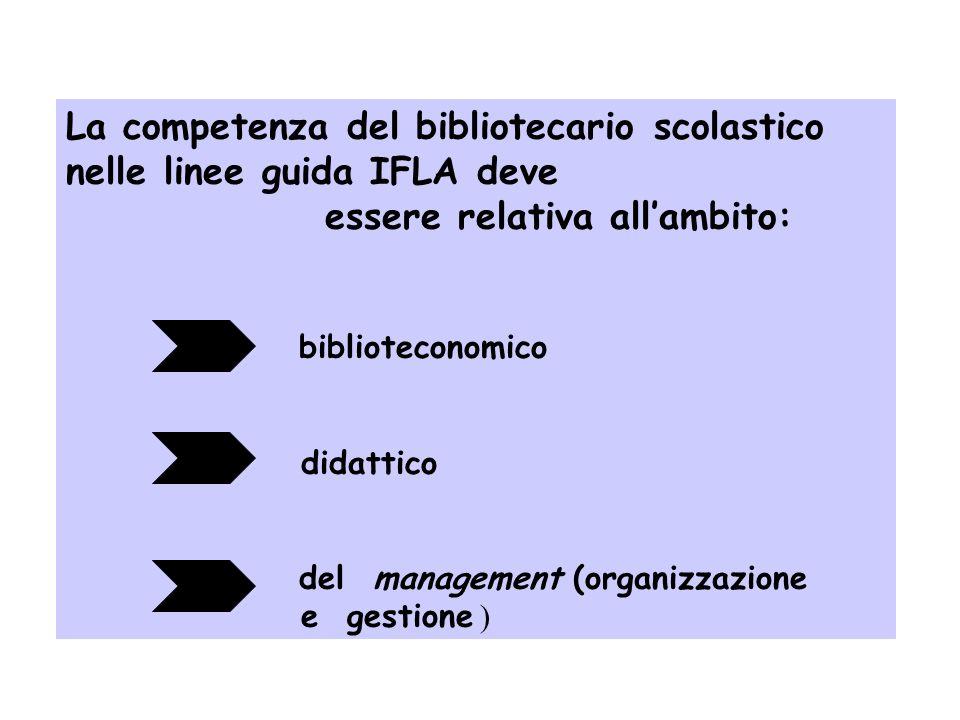 La competenza del bibliotecario scolastico nelle linee guida IFLA deve