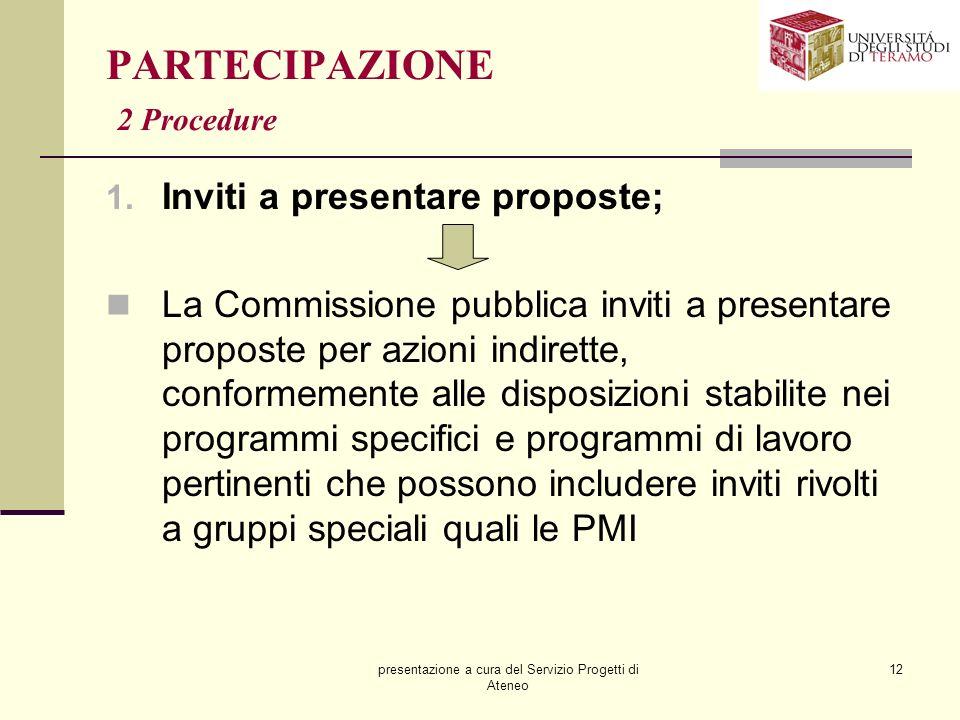 PARTECIPAZIONE 2 Procedure