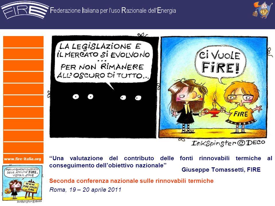 Giuseppe Tomassetti, FIRE Seconda conferenza nazionale sulle rinnovabili termiche
